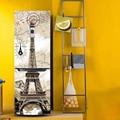 Yazi Torre Eiffel Tampa Porta Da Geladeira Adesivo de Parede Mural Auto-adesivo PVC Geladeira Adesivos Wallpaper 60x150 cm 60x180 cm