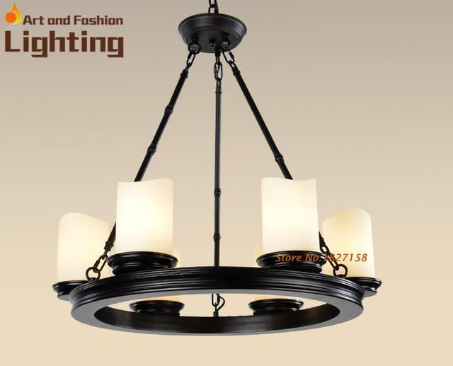 Moderne Led Kronleuchter ~ Top level amerikanischen dorf vintage schwarz eisen lampe moderne