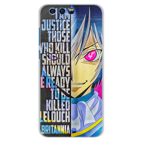 US $3 49 |Code Geass Lelouch CC Pattern Transparent frame hard back Case  Cover for Huawei Honor 9 Lite 10 8 Lite 6X 7X 7S 7A-in Half-wrapped Case  from
