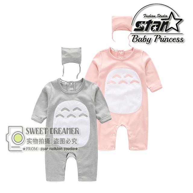 Recién nacido Manta Traviesas Twins Bebé Traje Animal de Una sola pieza Totoro Nacidos Muchacha Del Muchacho de Bebé de Algodón Bebé ropa de Baño ropa de Dormir