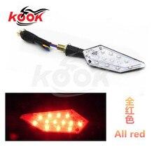 free shipping motorcycle LED red lighting motorbike Turn signal light for kawasaki yamaha honda suzuki universal KTM moto lights