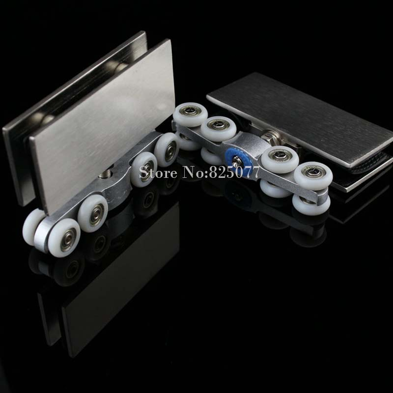 1 Set Sliding Glass Door Pulley Hanging Wheels For Sliding Glass Doors Shower Door Rollers Hardware