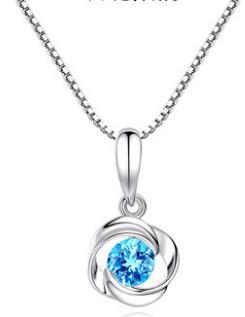 Neckzop 2019 femmes collier en acier inoxydable pour petite fille à la mode femmes bijoux cadeau mode bleu blanc