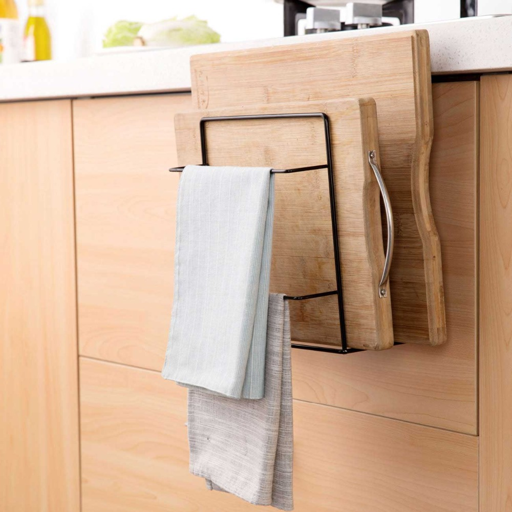 OTHERHOUSE Kitchen Organizer and Dish Cloth Rag Holder for hanging Kitchen Towel 3