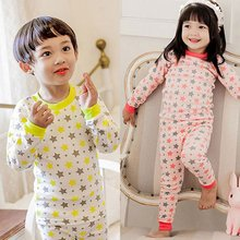 Boy Girl Star Style Long Sleeve Tops+Pants Infant Kid Set Sleepwear Homewear New