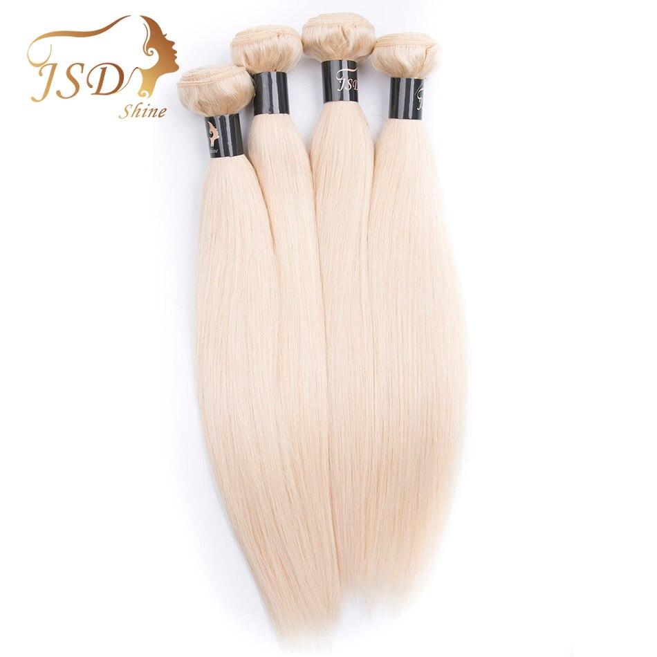 JSDshine бирманский прямые светлые Цвет 613 человеческих волос Связки не Волосы remy расширение Бесплатная доставка 4 шт. 8-28in человеческих волос