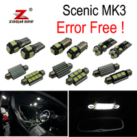 17pc x For 2009 2016 Renault Scenic III 3 MK3 Error Free Car LED bulbs Interior Reading dome map trunk door Light Kit