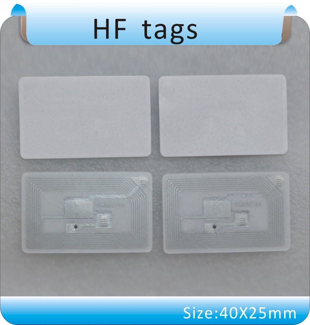 Free Shipping 100pcs 13.56 MHz ICODE-2 / HF Tags, Books Management Tag/stickers RFDI Tgas  / ISO -15693