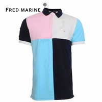 Eden Park Patchwork Style Summer Collection Mens Polo Shirts Superior Material Horse France Luxury Brand Good