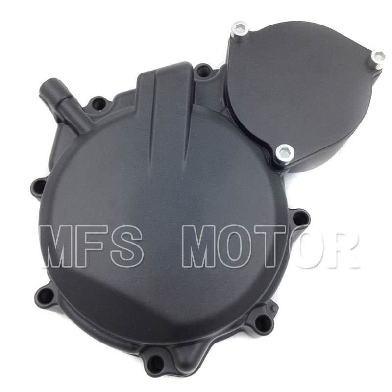 Motorcycle Parts Left Engine Stator cover For Suzuki GSXR600/750 2008 2009 BLACK for motorcycle suzuki gsxr600 750 2008 2009 engine stator cover black left