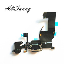 AliSunny 10pcs Charging Flex Cable for iPhone 5 5G USB Dock Connector Charger Port Replacement Parts