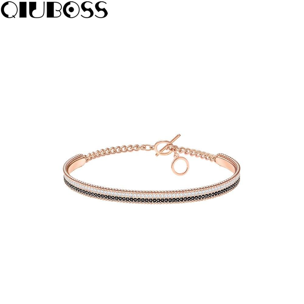 QIUBOSS LOLLYPOP-exquisite slim adjustable bracelet temperament bracelet 5367827 female clavicle chain fashion design gift wing design chain bracelet