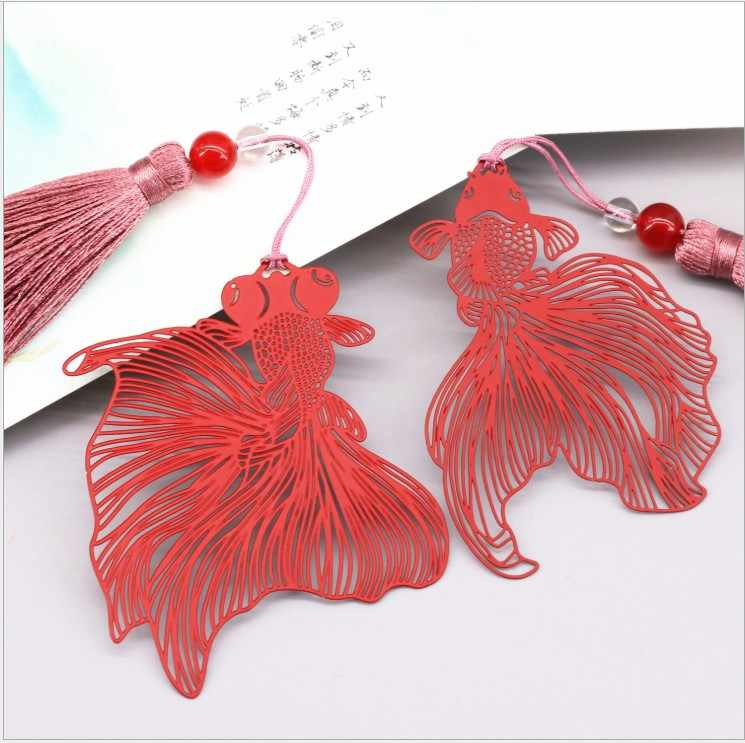 Detail Feedback Questions About Free Shipping Bookmark Metal 20PCS Bookmarks For Books Wedding Return Gifts Kids Birthday Party Red Goldfish Gift Box On
