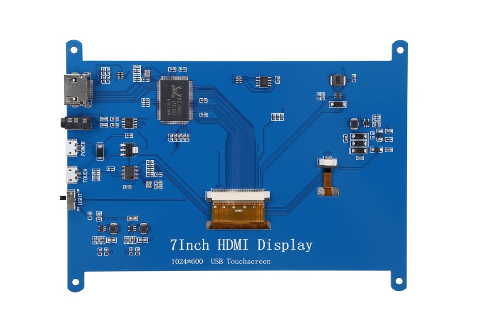 Image 5 - New 7 inch USB HDMI LCD Display Monitor 1024x600 Capacitive Touch Screen For Raspberry Pi 3 B+-in Demo Board Accessories from Computer & Office