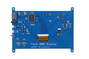 Image 5 - New 7 inch USB HDMI LCD Màn Hình Hiển Thị 1024x600 Điện Dung Màn Hình Cảm Ứng Cho Raspberry Pi 3 B +
