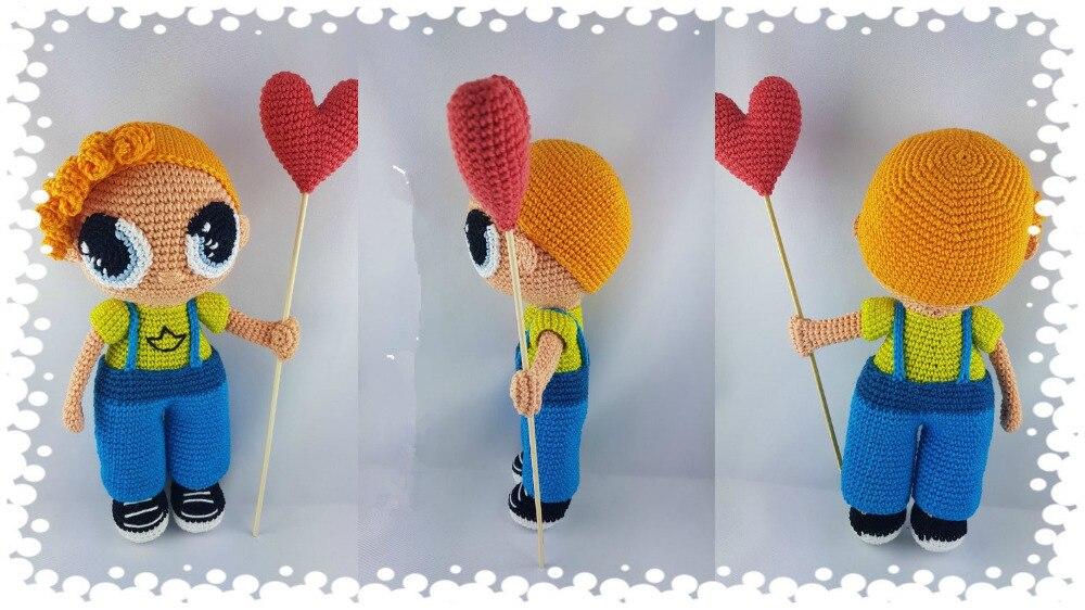 Crochet jouets amigurumi poupée soleil garçon numéro de modèle LS0019