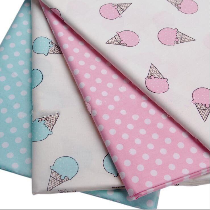 2016 new 40cm 50cm 2pcs lot 100 cotton fabric printing sewing tissu handmade - Lot de tissu patchwork ...
