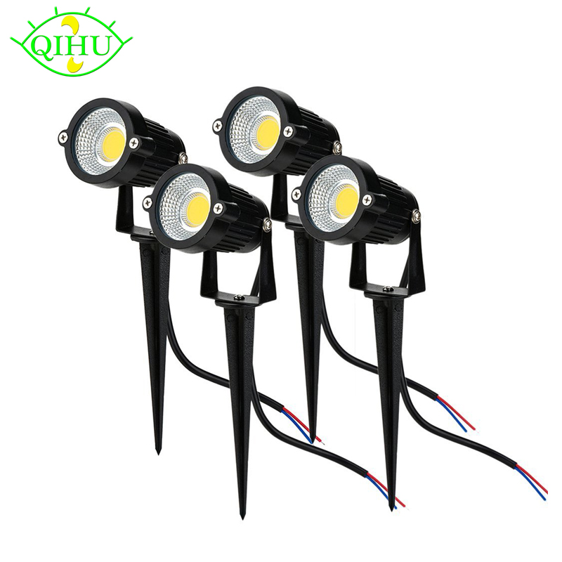 85-265v LED Lawn Lamp Light Waterproof COB Outdoor Garden Lighting Green Yellow Red Blue White LED Spike Light For Garden