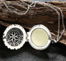 Best Deal New Fashion Women Silver Plated Opened Pendant Necklace Charm Locket Luminous Goth Choker Necklace
