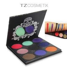 9Colors TZ Eyeshadow Pallete Diamond Glitter Matte Foiled Eye Shadow Palette Maquiagem Profissional Blush Makeup Set