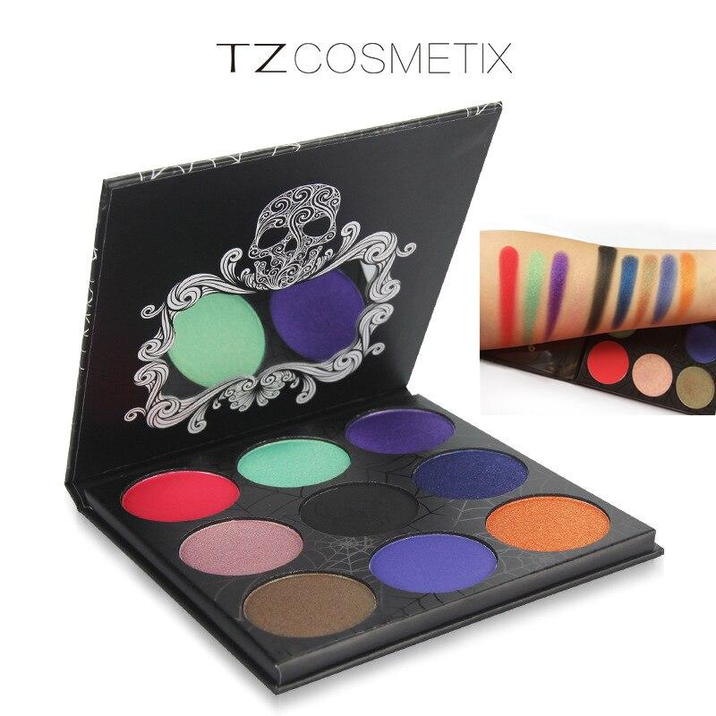 9Colors TZ Eyeshadow Pallete Diamond Glitter Matte Foiled Eye Shadow Palette Maquiagem Profissional Blush font b