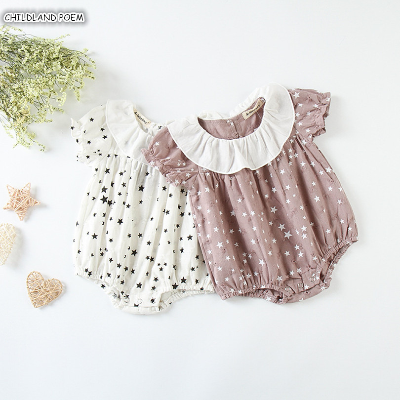 Baby Girl Romper Summer Newborn Baby Clothes Girls Baby Jumpsuit Ruffle Infant Girls Sunsuit Cotton Baby Girl Clothes