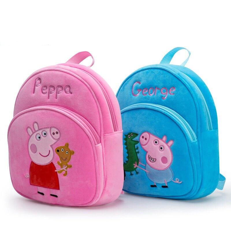 New Arrival Genuine PEPPA PIG peppa George plush backpack high quality Soft Stuffed cartoon bag Doll For Children kids toy