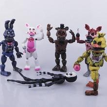 Freddy's Five Nights PVC  Action figure 17cm Bonnie Foxy Freddy toys 5 Fazbear Bear Doll baby toys for children gift 2017
