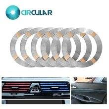 Автомобильный Стайлинг для тела изменение наклейки украшения полосы глянцевая ПВХ клейкая решетка влияние для двери автомобиля интерьер экстерьер клей