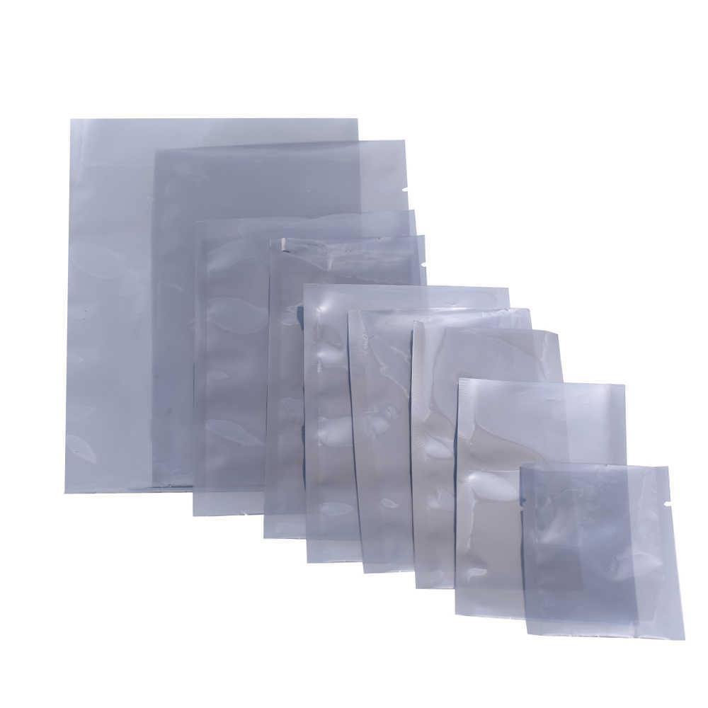 """12x18 см (4.75x7 """") без Каблука влагостойкие термосварочные сумки полупрозрачного антистатические открытым верхом мешочки для наушников электронных компонентов"""