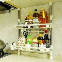 2 Tier Kitchen Storage Rack Cabinet Storage Spice Herb Rack Spice Jar Shelf Organize Hanger DQ1407/DQ0777 19A