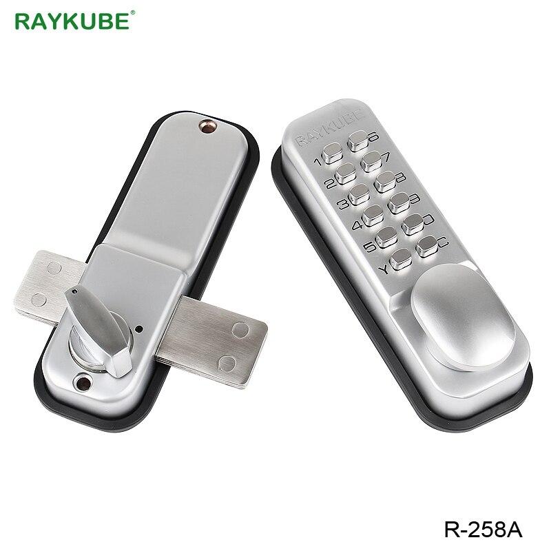 RAYKUBE Mechanical Digit Password Door Lock All Weather Waterproof Door Lock Zinc Alloy R 258A