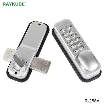 RAYKUBE Mechanical Digit Password Door Lock All Weather Waterproof Door Lock Zinc Alloy R-258A