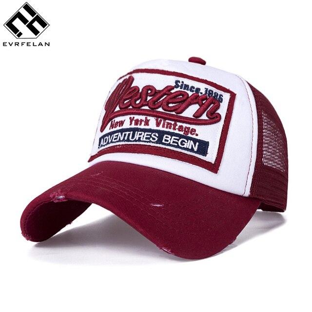 a1054c8ed5f Evrfelan Summer Snapback Hat Baseball Cap Embroidery Mesh Cap Hats For Men  Women Gorras Casual Hip Hop Caps