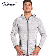 Taddlee Brand Hoodies Men Full Zipper Jacket Sports Running Gym Sweatshirt Hooded Long Sleeve Training Gasp Tee Shirts Cotton