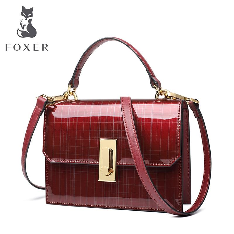 FOXER Brand Women Patent leather Crossbody bag & Shoulder bags Female Messenger Bag Famous Brand Women Handbags 2018 foxer brand 2018 women leather crossbody bag