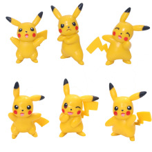 Hot Sale Mini Pikachu Figures 6Pcs lot 6cm PVC Action Figure Toys Cartoon Model Figurine Free Shipping