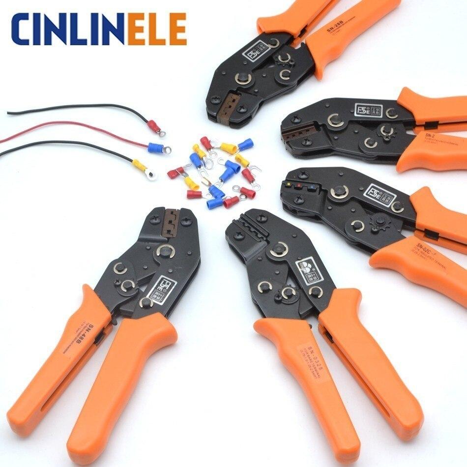 Free Shipping Crimping Tool Wiring Crimp Pliers Bare Insulation Ratchet Terminals SN-01C SN-0725 SN-02B SN-11011 SN-02 SN-06 siemens sn 66n097