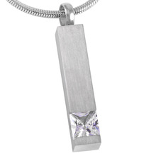 Crystal Bar Urn Necklace