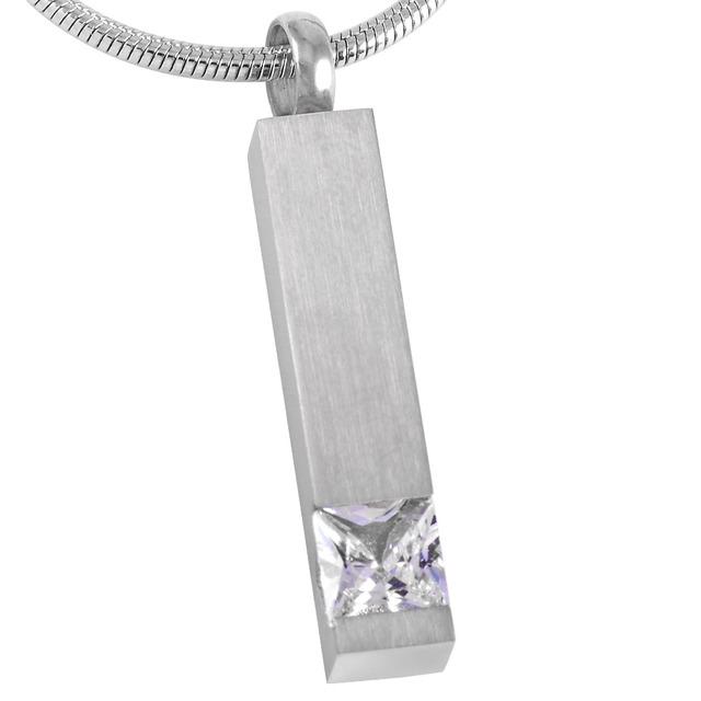 Crystal Bar Urn Necklace