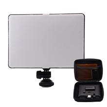 Slim DSLR וידאו LED אור + סוללה + USB מטען עם אחסון תיק עבור Canon ניקון מצלמה DV למצלמות