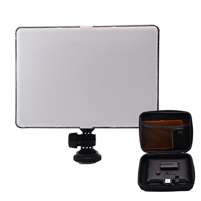Slim DSLR Video LED Light + Battery + USB Charger with Storage Bag  for Canon Nikon Camera DV Camcorder
