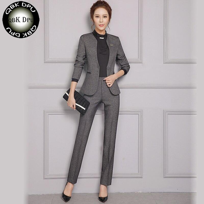 c519bf729770 dark Suit Abbigliamento Vestiti Colore Black Cappotto Set Casuali Moda  Solido Grey D affari donna Set Di Pantaloni Slim Donna Blazer ggxrqTnwP