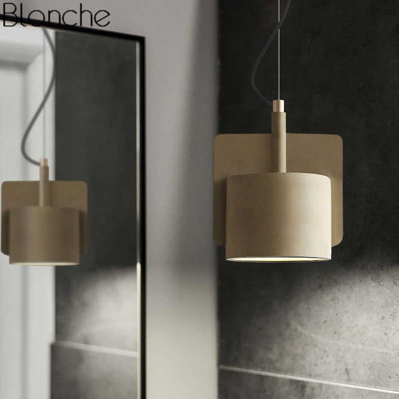Nordic цемента открытый подвесные светильники современный подвесной светильник Лофт Промышленные Декор Гостиная Кухня Освещение