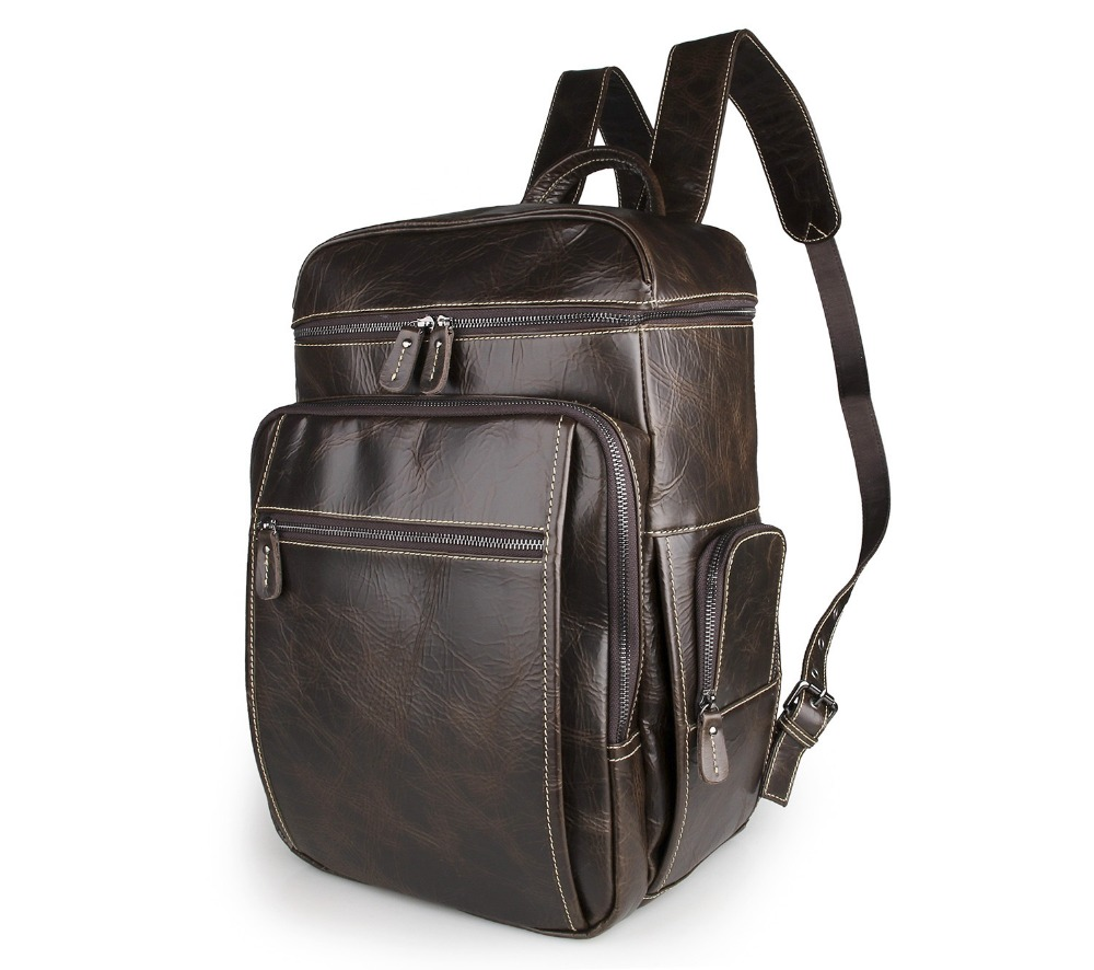 100 Natural Genuine leather men backpacks laptop bag large capacity men s backpacks men travel bags