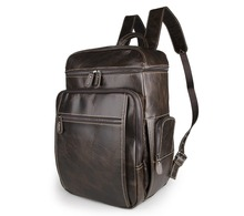100% Natural Genuine leather men backpacks laptop bag large capacity men's backpacks men travel bags cow leather backpack J7202