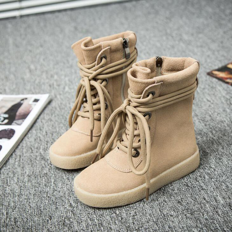 New 2018 children boots genuine leather autumn winter kids boots lace-up boys girls snow boots zipper shoes child martin boots autumn winter girls princess long boots children motorcycle boots lace up genuine leather mid calf snow boots 03b