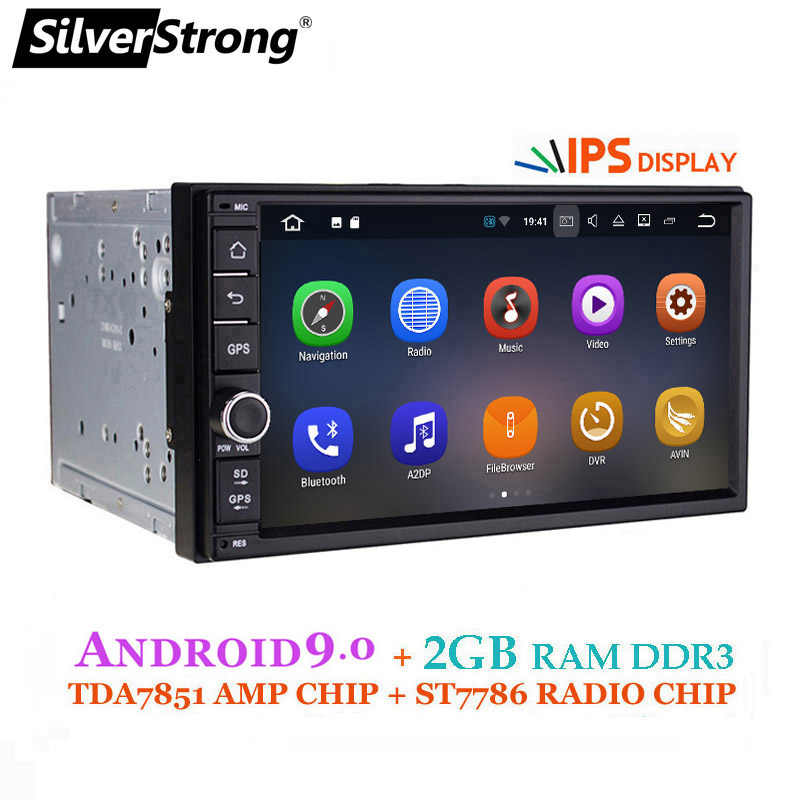 SilverStrong Android9.0 coche DVD 2Din Universal DSP android IPS panel OctaCore GPS del coche 7 pulgadas auto Radio estéreo Navi