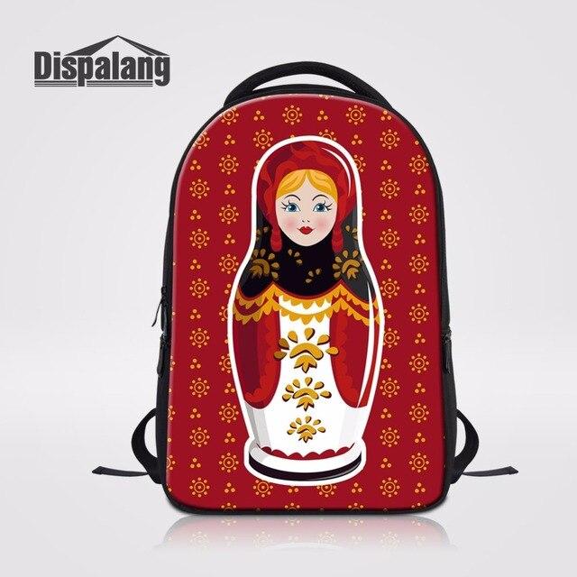 000d47680a Matryona russa Matryoshka Boneca Designer de Mochilas Escolares Para 14  Polegada Laptop Bagpack Mochilas UM Sacos