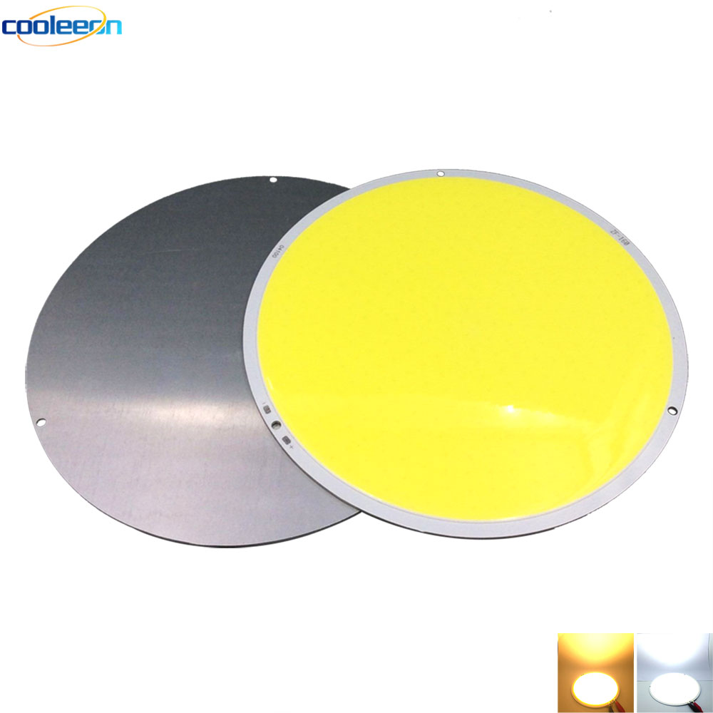 108MM 4.17in Diameter Circular COB LED Chip On Board 50W Light Source 12V Warm/ Cold White for Home Lighting Car Decor Work Bulb